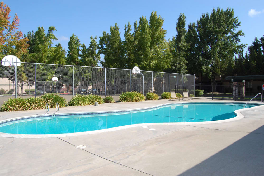 Sparkling swimming pool at Emerald Pointe