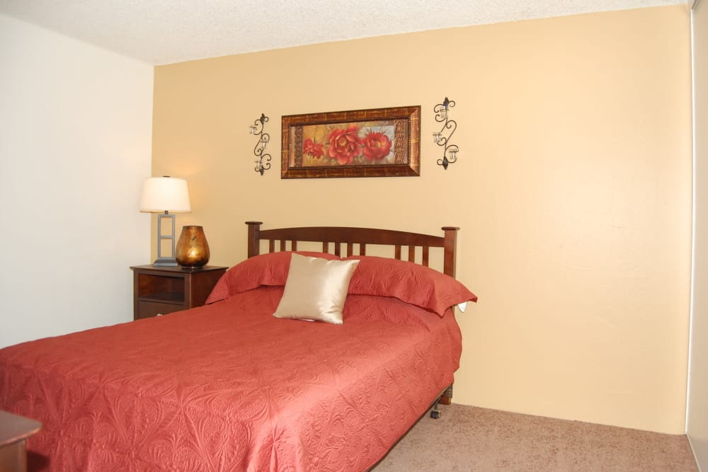 Enjoy a beautiful bedroom at Emerald Pointe apartments