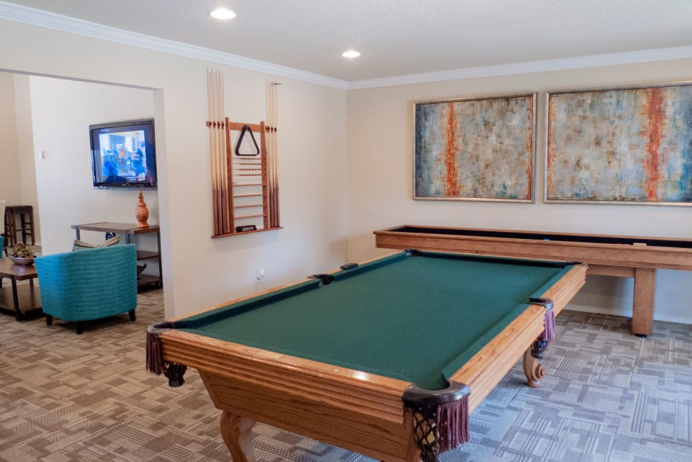 Game room at The Annex clubhouse