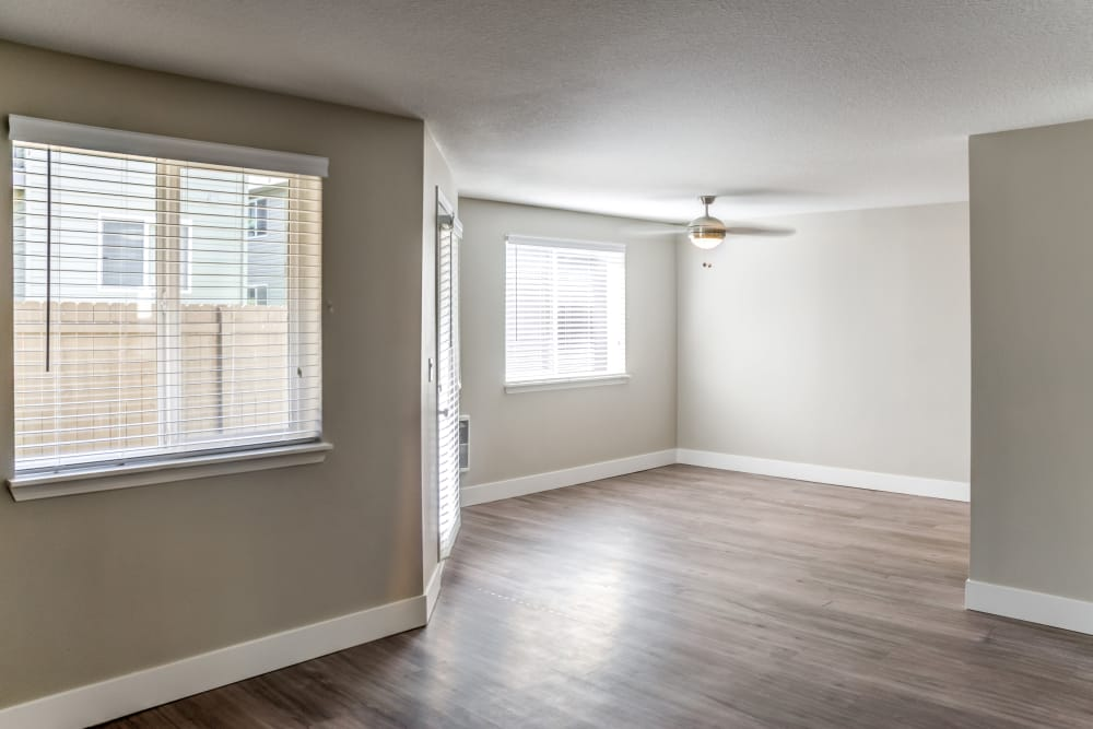 Nice hardwood floors at Madison Park Apartments in Vancouver, Washington