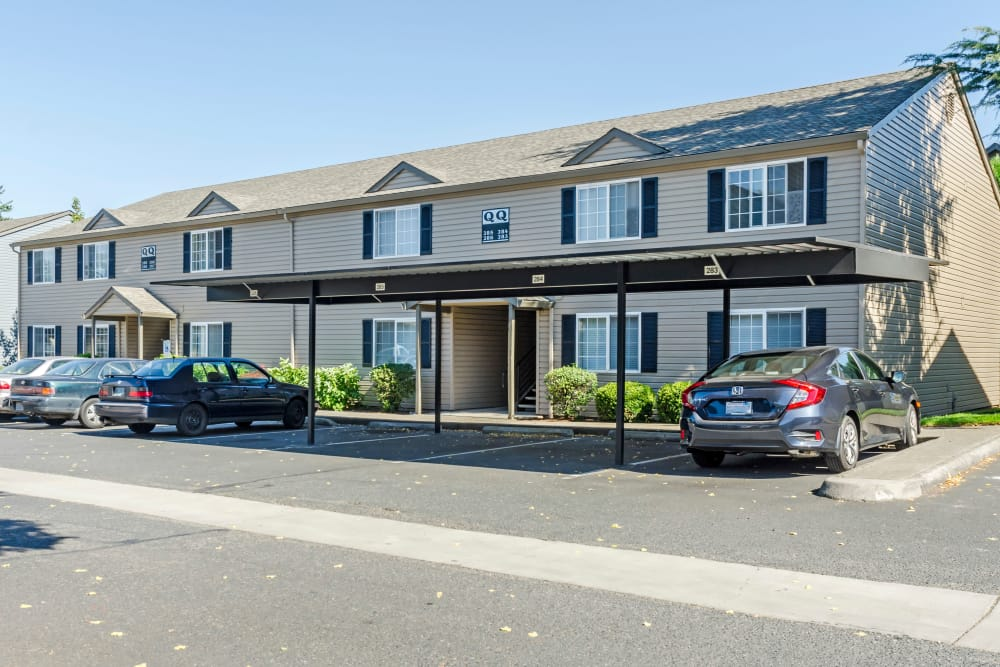 Covered parking at Madison Park Apartments in Vancouver, Washington