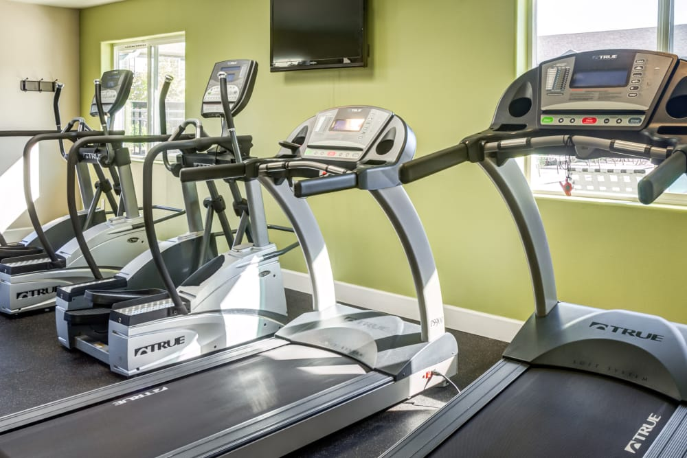 Fitness center at Madison Park Apartments in Vancouver, Washington