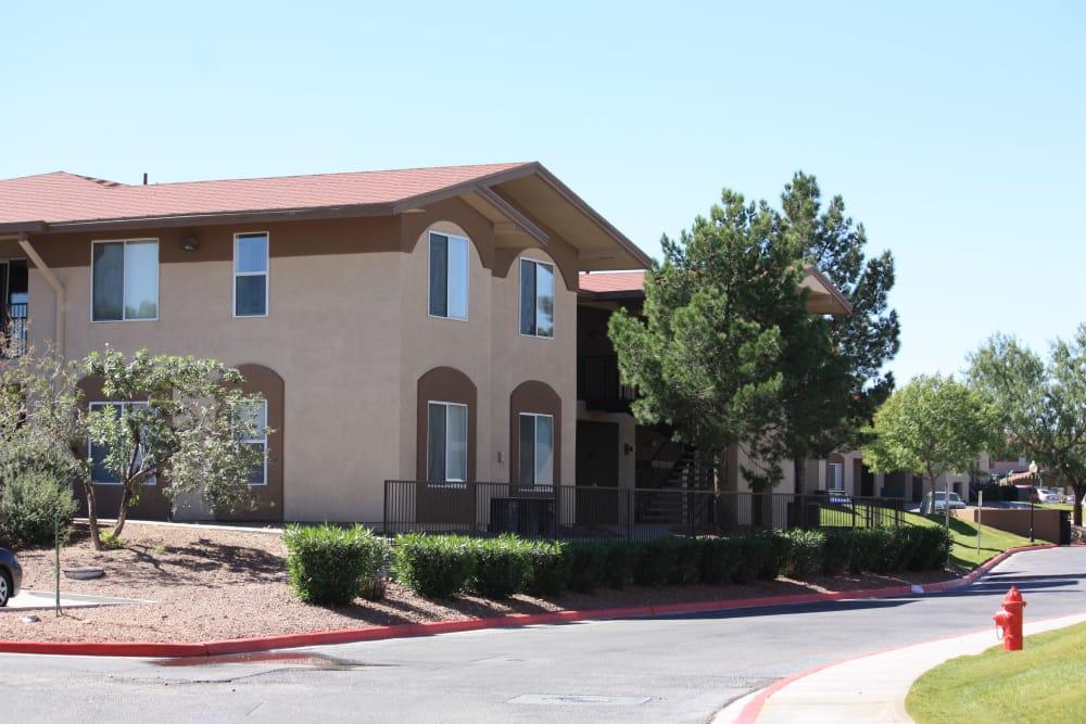 Exterior of our apartments at Santa Teresa Terrace Apartments in Santa Teresa, NM