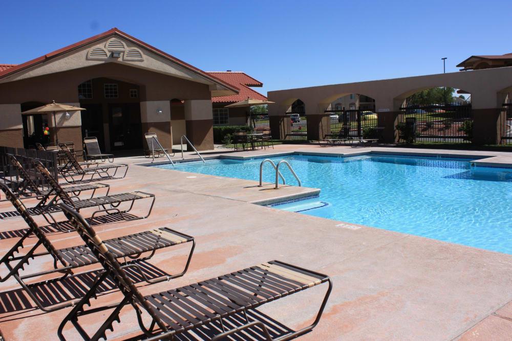 Luxury swimming pool at Santa Teresa Terrace Apartments in Santa Teresa, NM