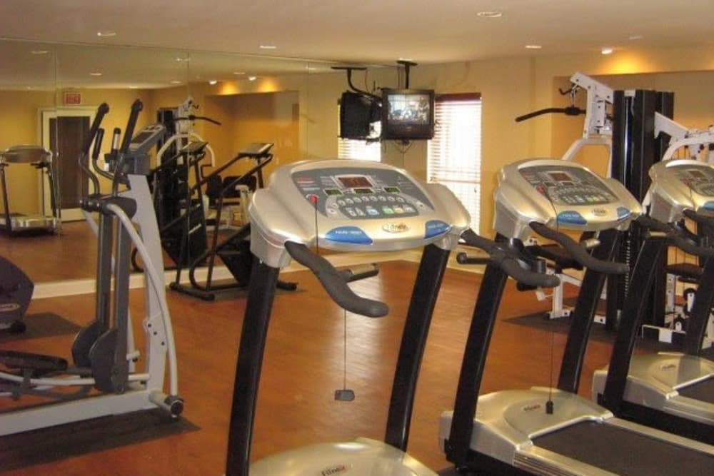 Large fitness center at Ladera Palms in Fort Worth, Texas