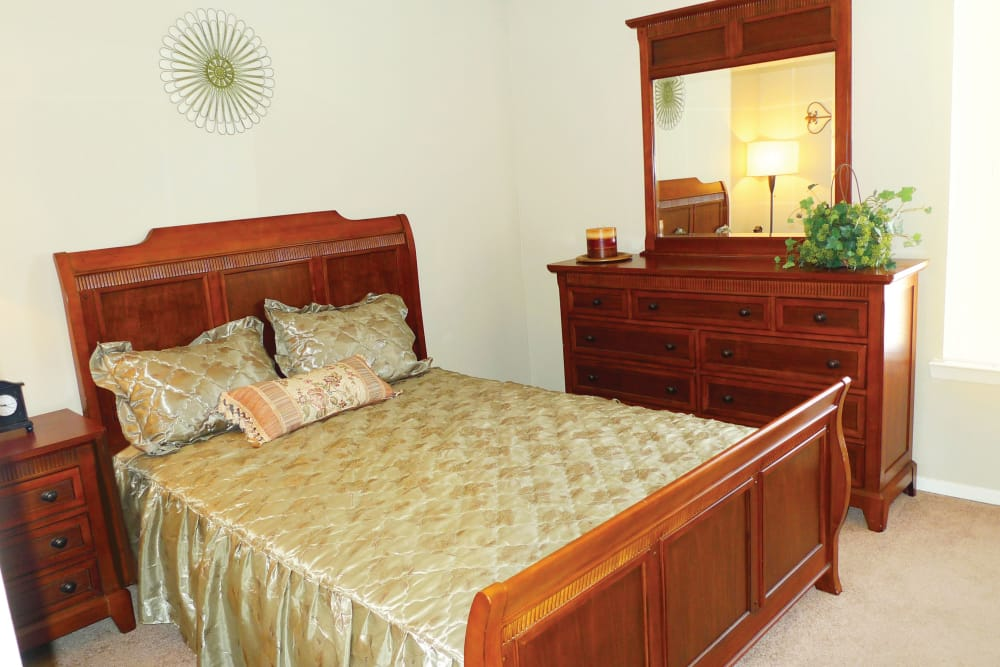 Beautiful bedroom at Ladera Palms in Fort Worth, Texas