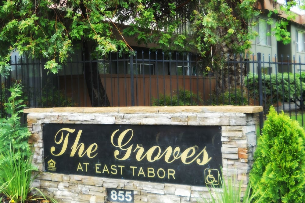 Groves at East Tabor signage in Fairfield, California
