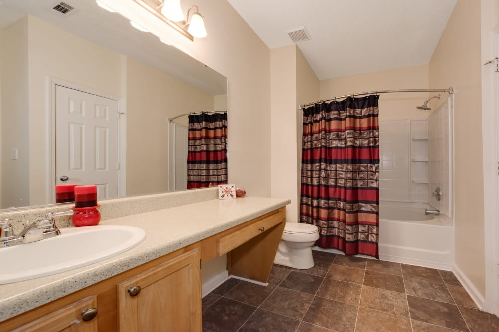 Spacious bathroom at Forest Oaks Apartment Homes