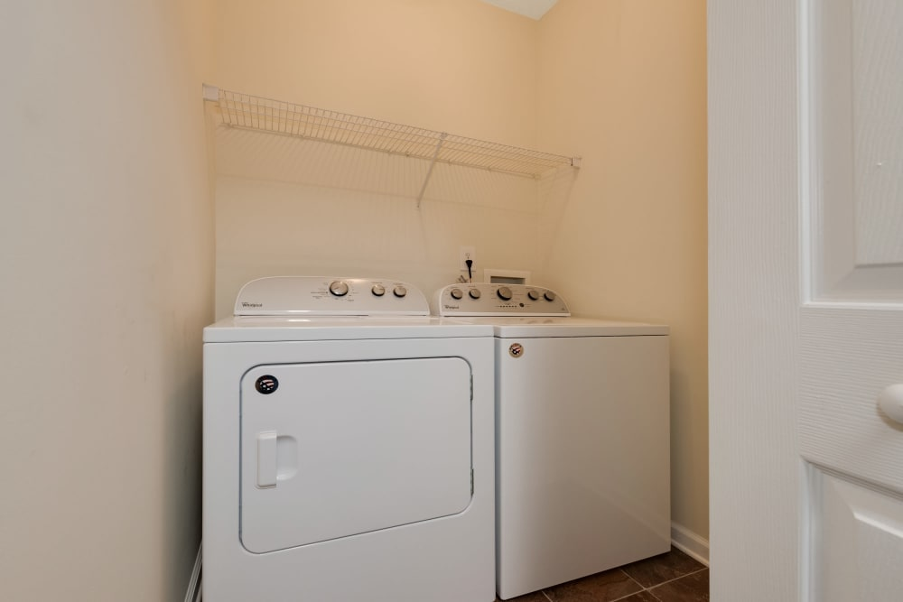 Washer and dryer at Forest Oaks Apartment Homes