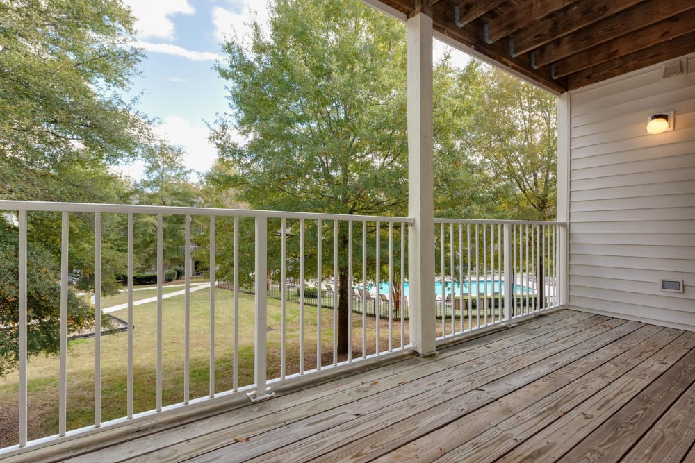 Balcony at Forest Oaks Apartment Homes