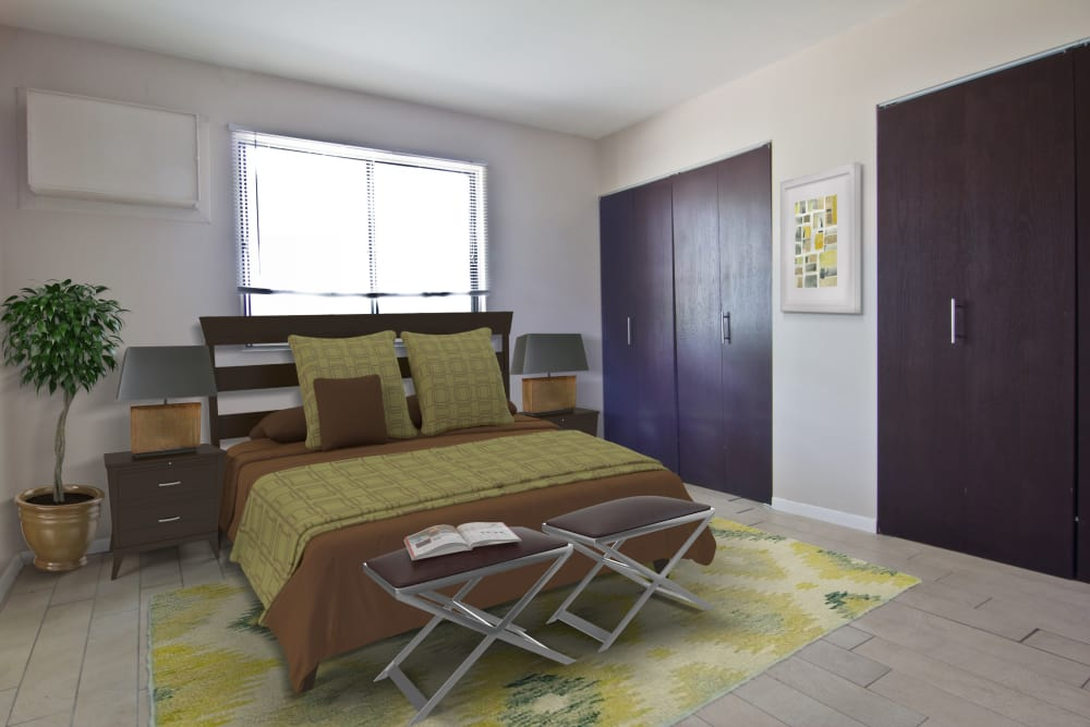 Ample room in our bedrooms at The Flats at Gladstone