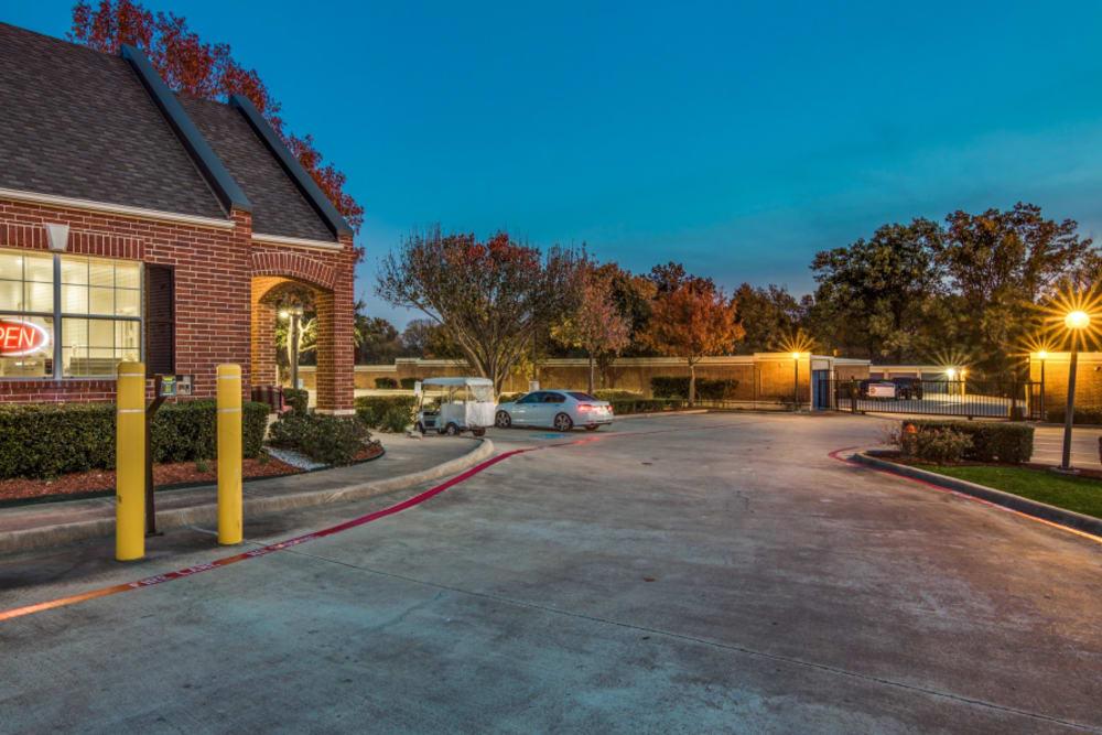 Outside Drive-Up Units at Advantage Storage - Rowlett in Rowlett, TX.