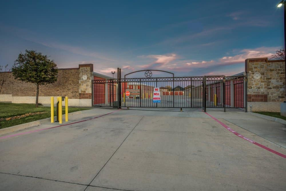 Gated access at Advantage Storage - Denton in Denton, TX.