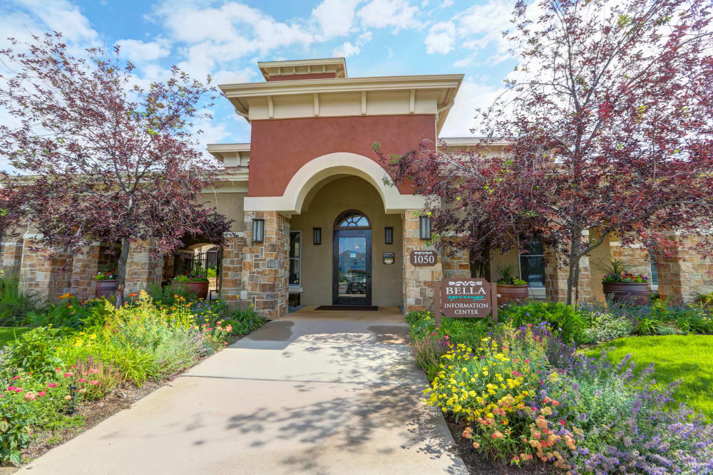 Beautiful entryway at apartments in Colorado Springs, Colorado