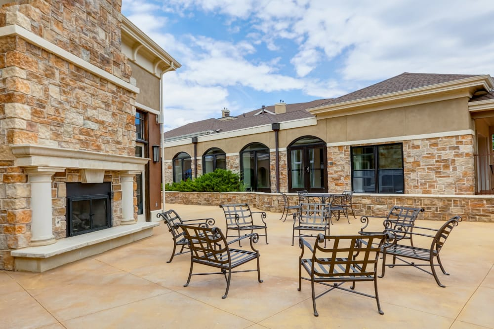 Bella Springs Apartments offers a luxury bbq area in Colorado Springs, Colorado