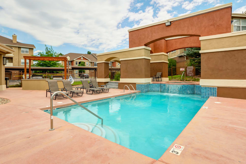 Our apartments in Colorado Springs, Colorado showcase a luxury swimming pool