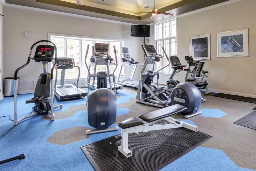 Modern fitness center at Bella Springs Apartments in Colorado Springs, Colorado