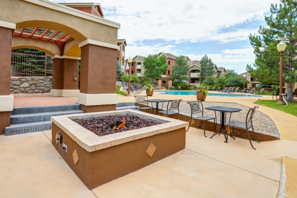 Beautiful outside areas at Bella Springs Apartments in Colorado Springs, Colorado