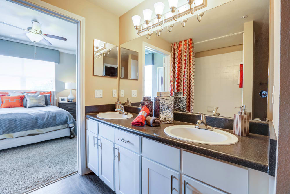Our apartments in Colorado Springs, Colorado showcase a beautiful bathroom