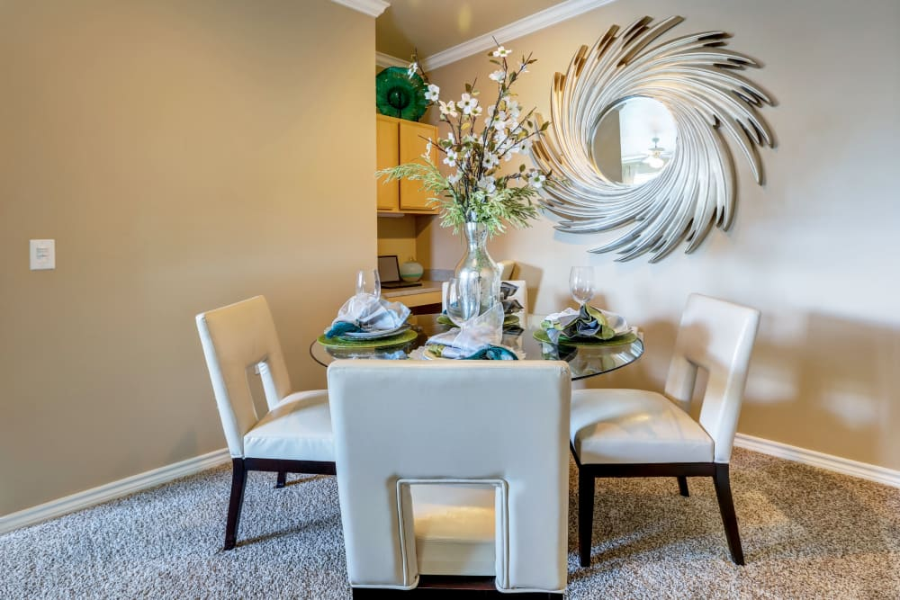Dining table at Bella Springs Apartments in Colorado Springs, Colorado