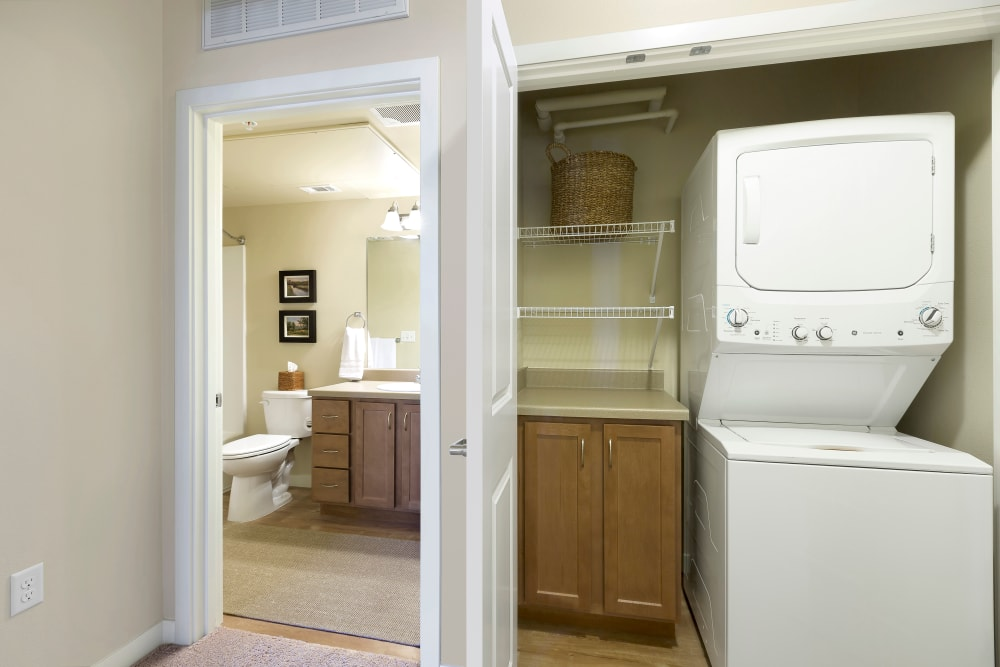 Affinity at Southridge home with a washer and dryer
