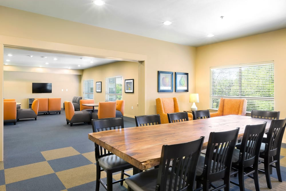 Community room at Affinity at Wells Branch