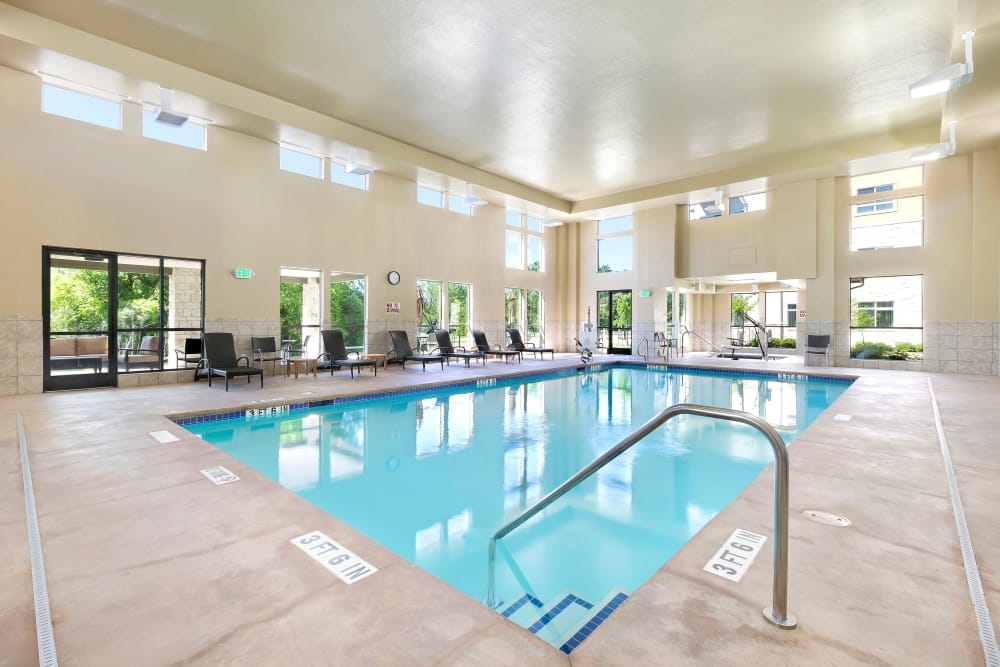 Affinity at Wells Branch offers an indoor pool