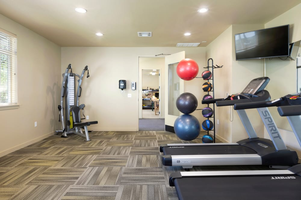 On-site gym for all Affinity at Wells Branch residents