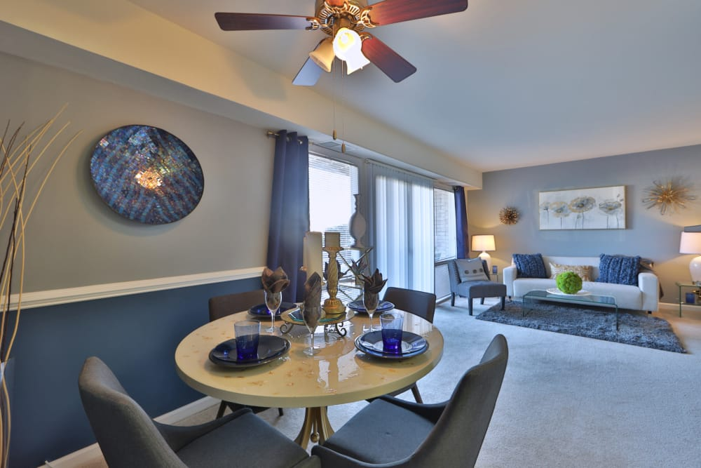 Spacious dining living room combo at Parke Laurel Apartment Homes in Laurel, MD
