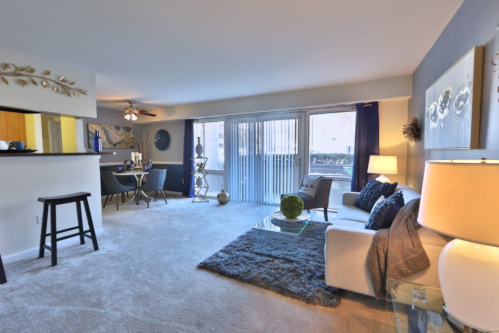 Our apartments in Laurel, MD showcase a spacious living room