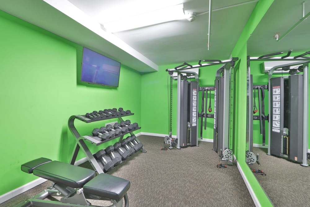 Parke Laurel Apartment Homes offers a fitness center in Laurel, MD