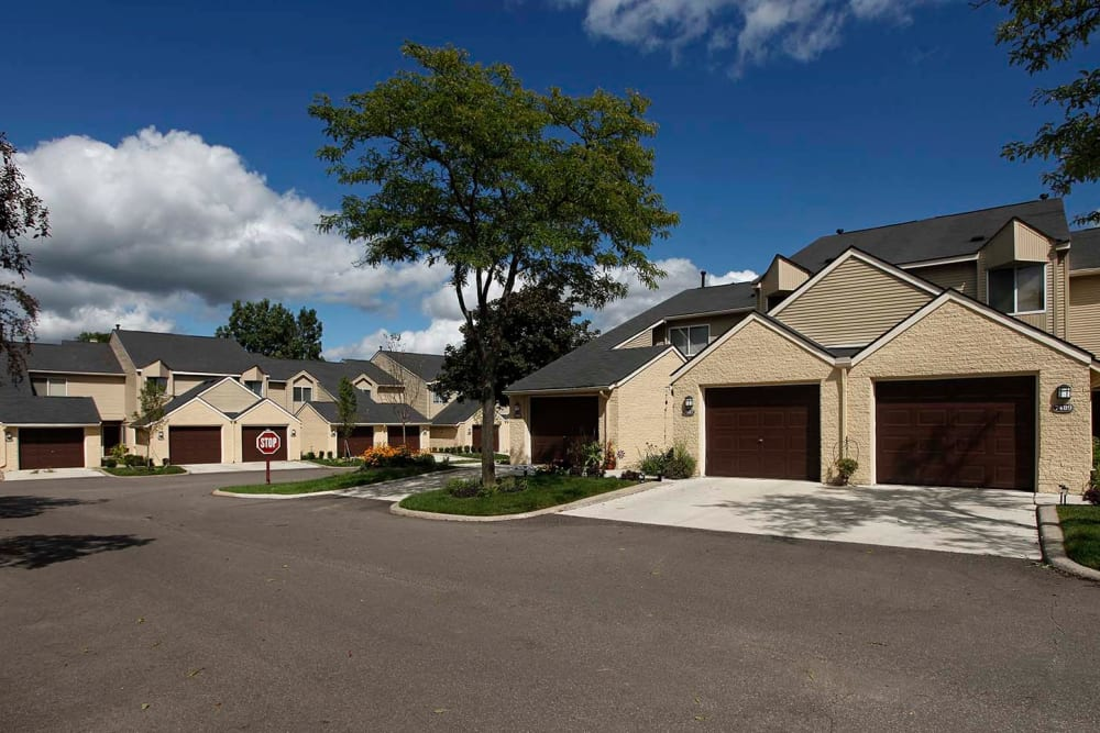 Exterior view of Amberly community in West Bloomfield