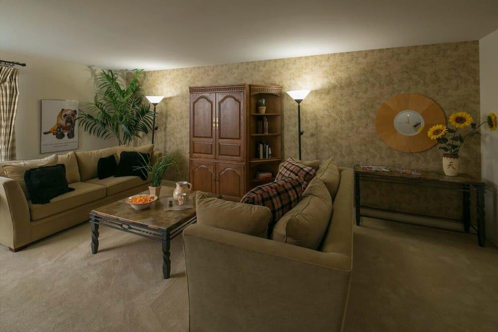Enjoy a cozy living room at  apartments