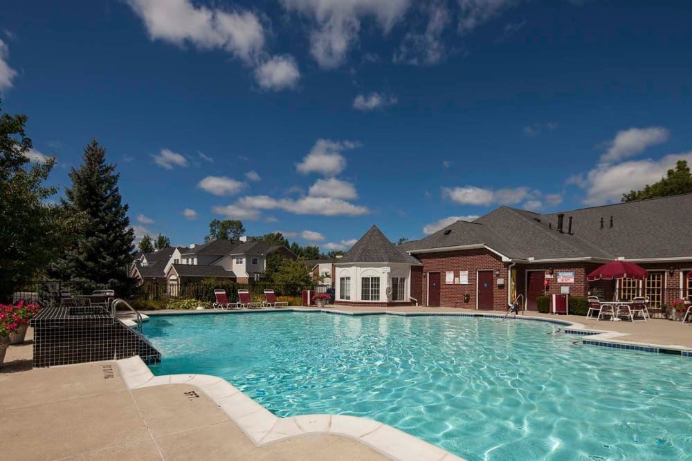 Swimming pool at Briarcliff Village in Commerce Township