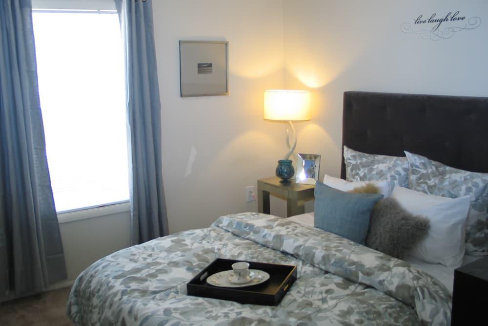 Luxury bedroom at Fontana Village in Rosedale, MD