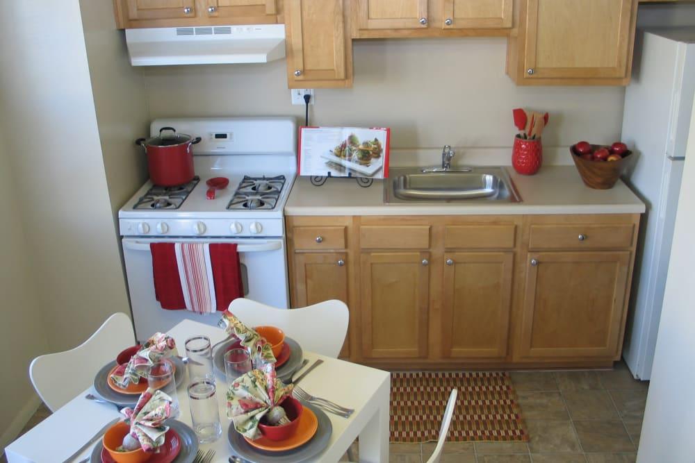 Modern kitchen at Fontana Village in Rosedale, MD