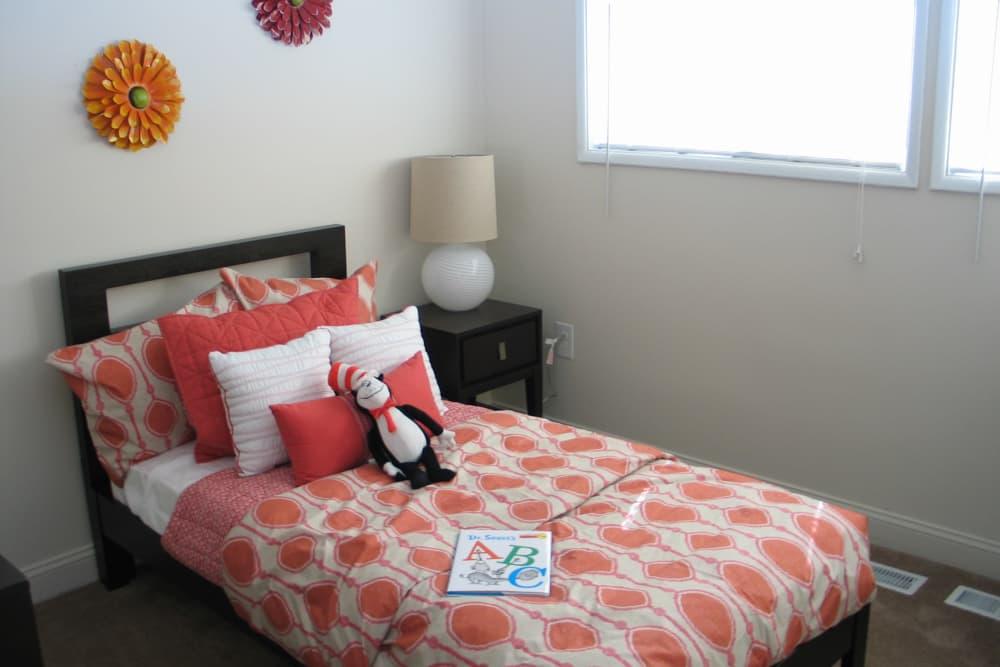 Modern bedroom at Fontana Village in Rosedale, MD