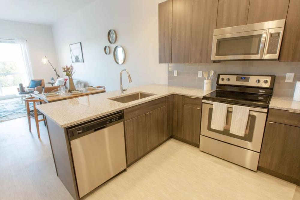 Kitchen at Apartments in Englewood, Colorado