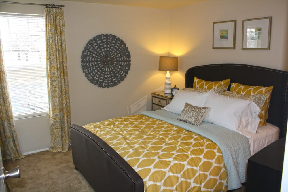 Cozy bedroom at Riverview Townhomes in Halethorpe, MD