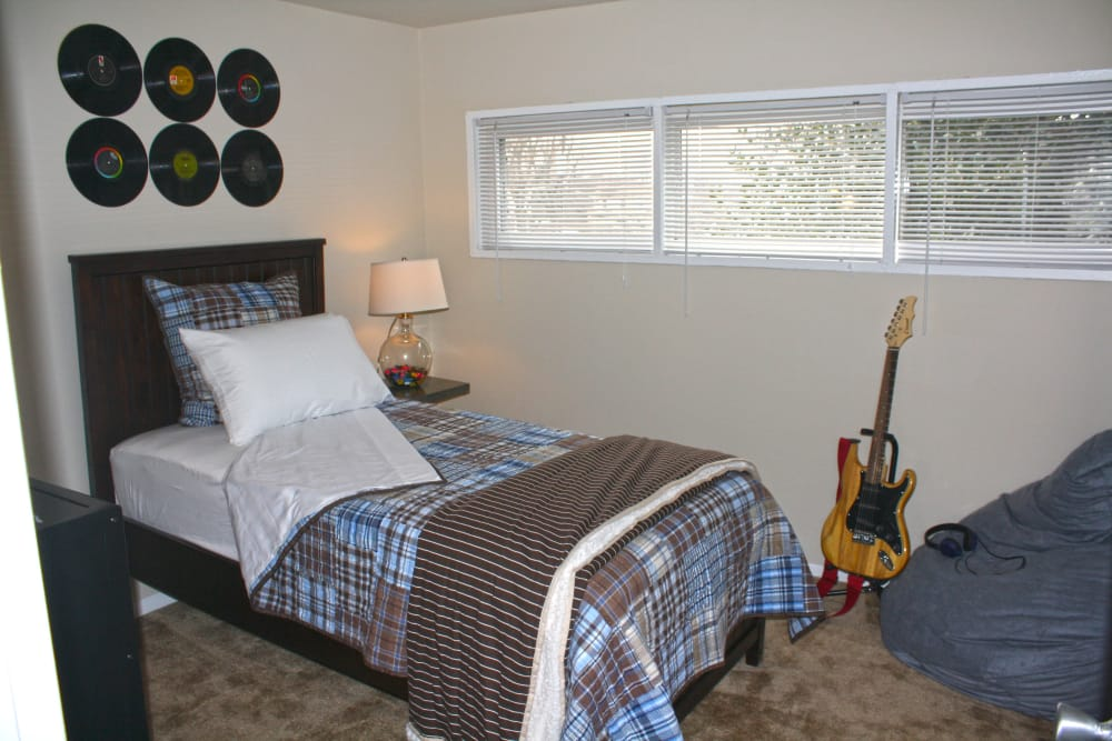 Our apartments in Halethorpe, Maryland showcase a modern bedroom