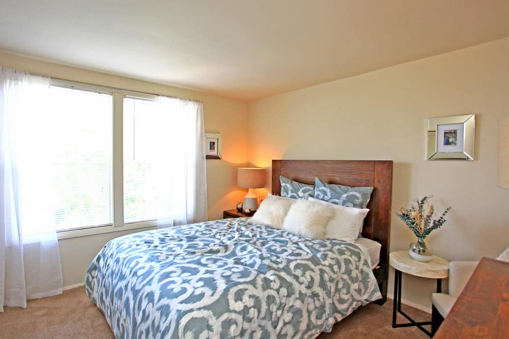 Spacious bedroom at Cove Village in Essex, MD