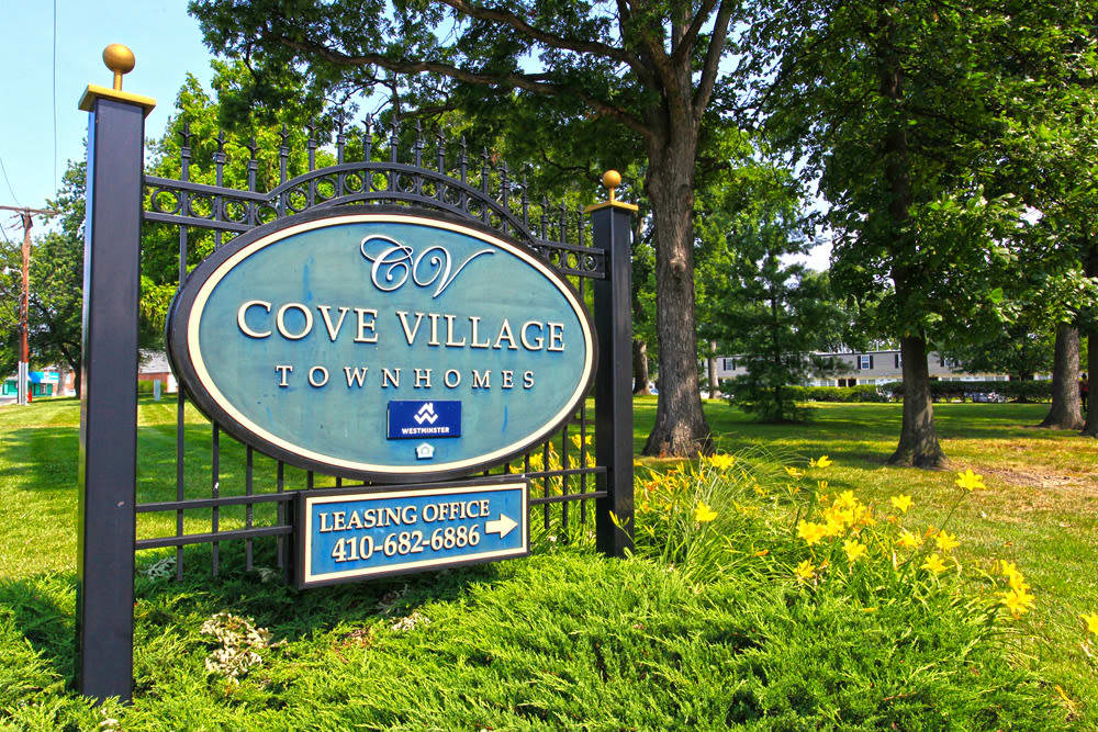Exterior of our apartments at Cove Village in Essex, MD
