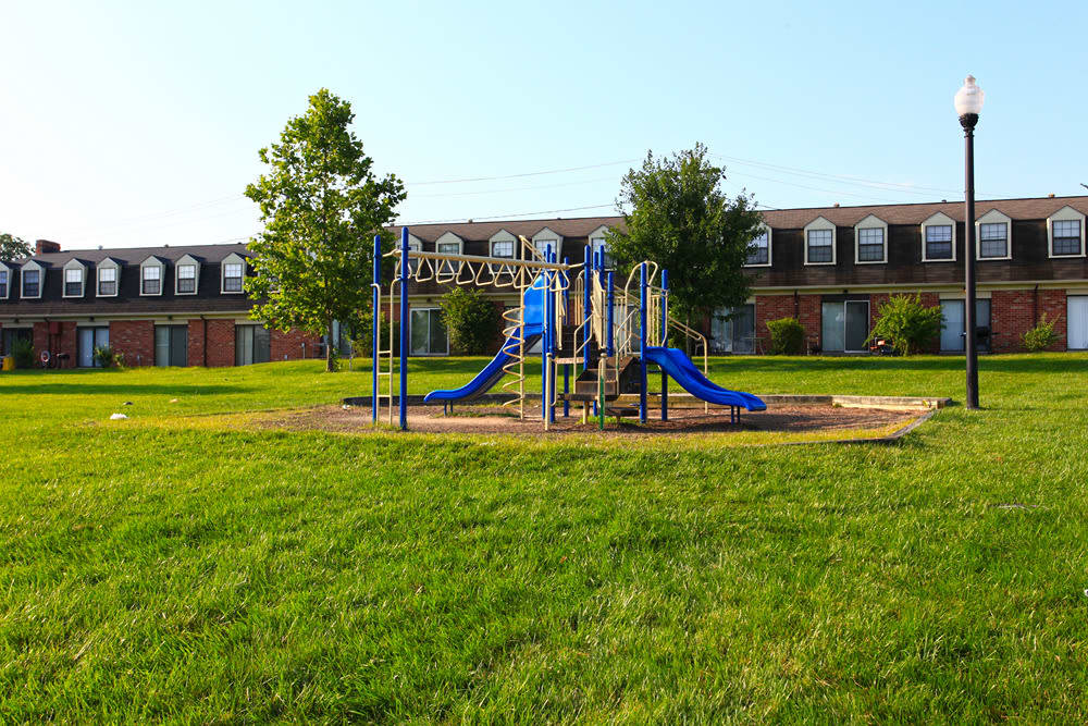 A playground that is great for entertaining at Dutch Village in Baltimore, MD