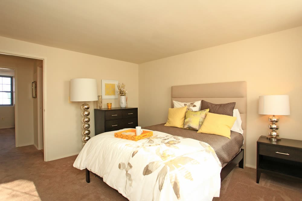 Beautiful bedroom at Dutch Village in Baltimore, MD