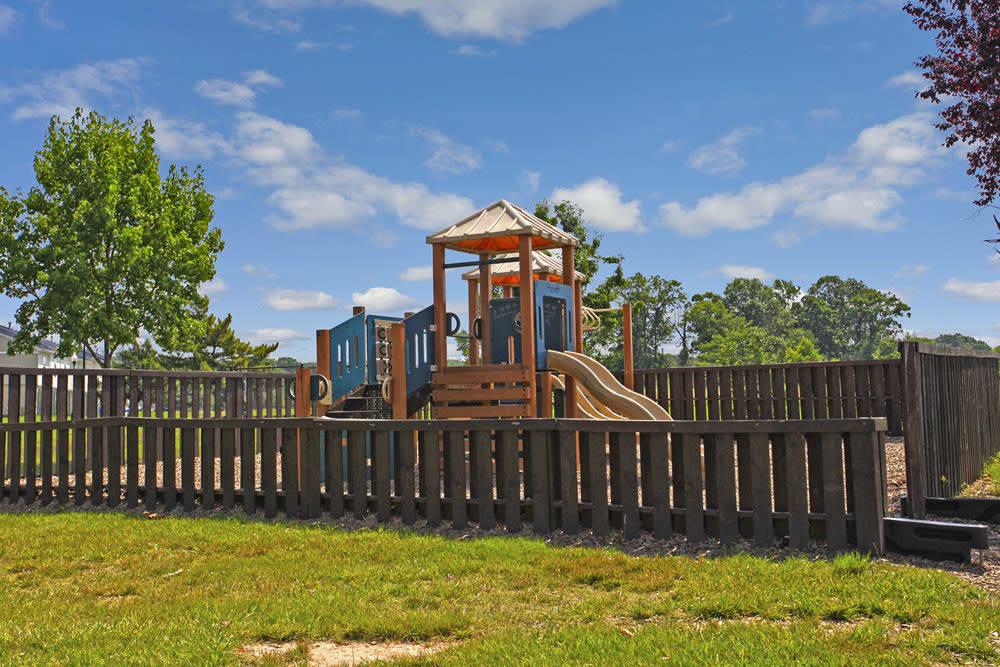 A playground that is great for entertaining at Whispering Woods in Middle River, MD