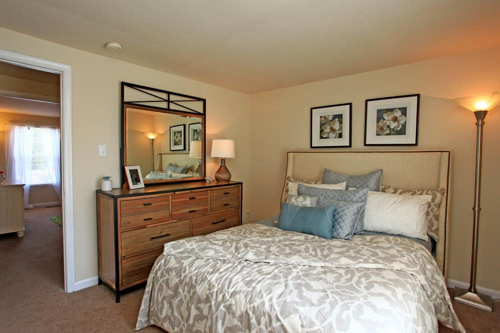 Our apartments in Middle River, Maryland showcase a modern bedroom