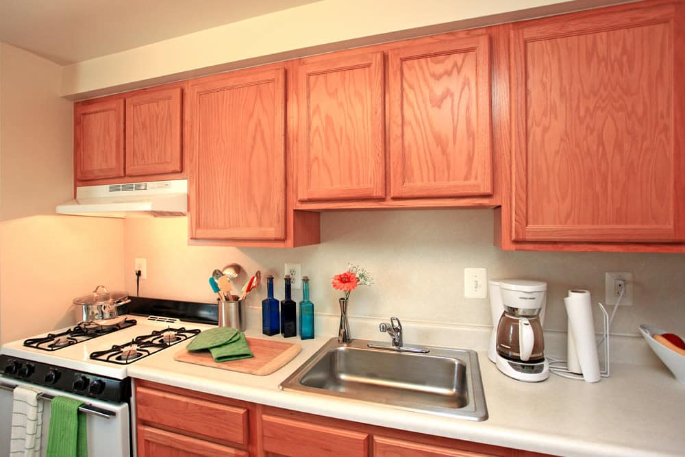 Spacious kitchen at Whispering Woods in Middle River, MD
