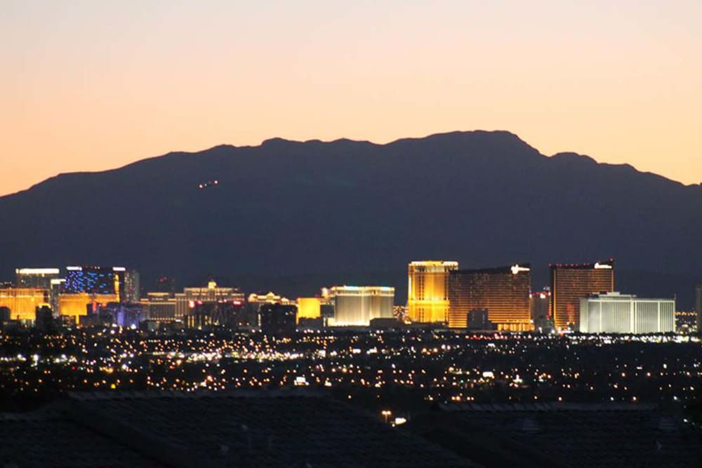 Pretty city lights of Las Vegas