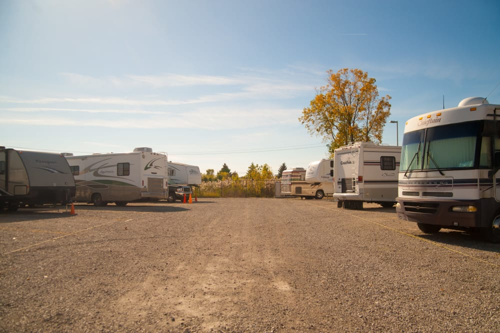 Another view of RV and boat storage at 1-800-SELF-STORAGE.com