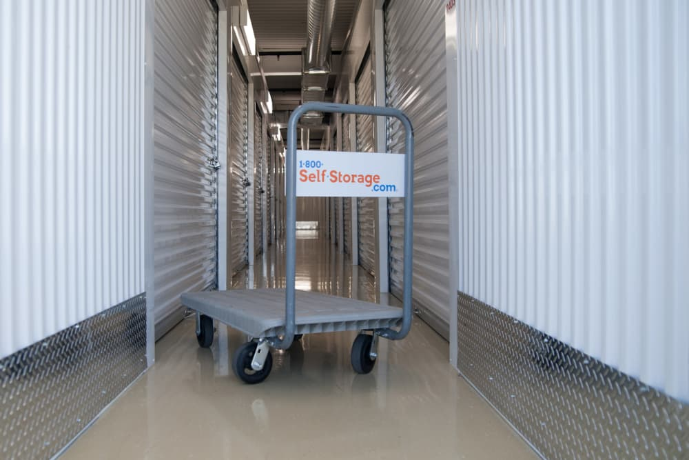 1-800-SELF-STORAGE.com hallway featuring a cart in Troy, Michigan